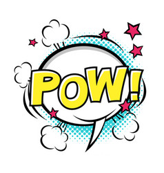 Pow comic speech bubble comic sound cartoon vector