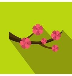 Sakura flowers icon flat style vector
