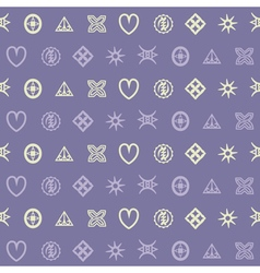 seamless pattern with adinkra symbols for your des vector image