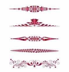Set of design horizontal elements for border vector