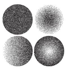 Set of halftone gradient circle banner vector