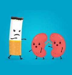 smoke kill kidneys stop smoke concept vector image vector image