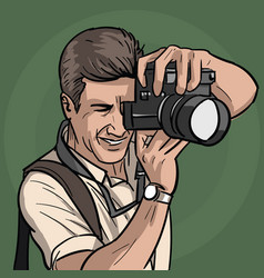 the photographer is at work vector image