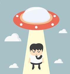 ufo choosing worker businessman vector image