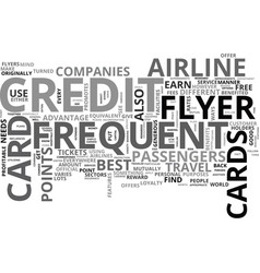What you need to know about frequent flyer credit vector