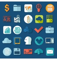 Set of business icons vector