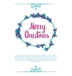 merry christmas wording vector image