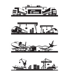 transport cargo terminals vector image