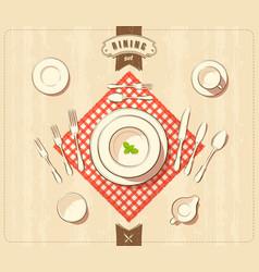 Dining set vector
