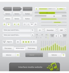 Interface Media Website vector image