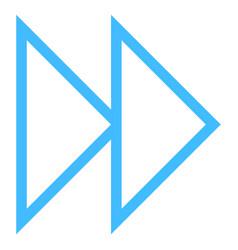 Arrow sign fast forward icon pointer symbol vector