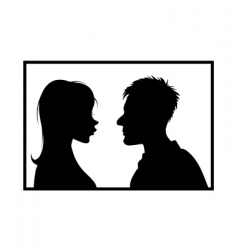 girl guy silhouettes vector image