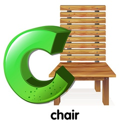 A letter c for chair vector