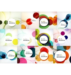 Set of circle abstract backgrounds vector
