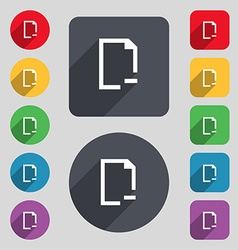 Remove folder icon sign a set of 12 colored vector