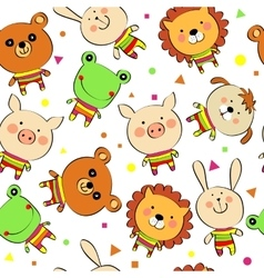 Background with animals vector
