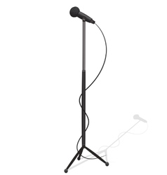 Cartoon microphone and stand vector image