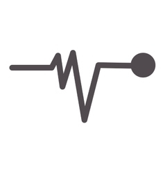 Pulse line icon vector