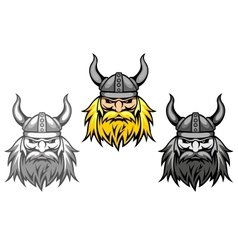 Agressive viking warriors vector image