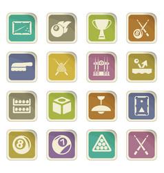 Billiards icon set vector