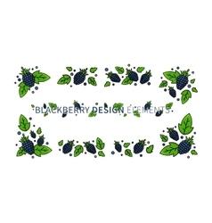 Blackberry line art vector image vector image