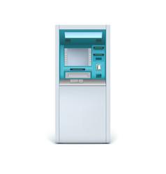 Cash machine closeup vector image