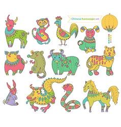 Chinese horoscope animals vector image
