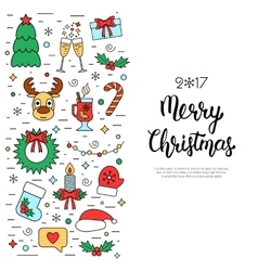 Christmas colored isolated concept flyer card vector image