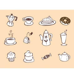 Coffee and tea design elements vector