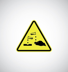 Corrosive sign vector