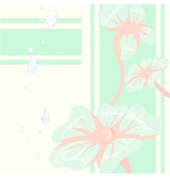 Decorative floral background with blue flowers vector image vector image