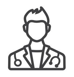 doctor line icon medicine and healthcare vector image