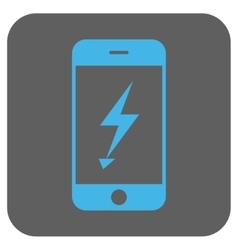 Electric mobile phone rounded square icon vector