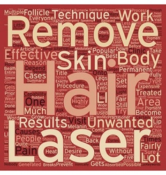 How does laser hair removal work text background vector