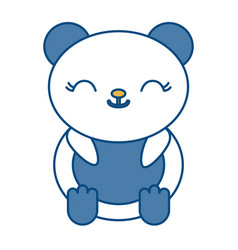 Kawaii bear icon vector