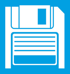Magnetic diskette icon white vector