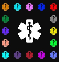 Medicine icon sign Lots of colorful symbols for vector image vector image