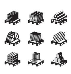 Metal building materials vector