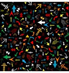 multicolored arrows seamless vector image vector image
