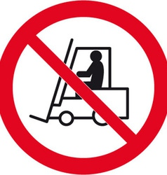 No forklift trucks beyond this point safety sign vector