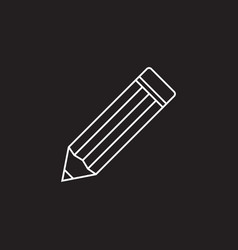 Pencil thin line icon edit outline l vector