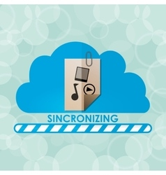 Sincronizing and download vector
