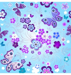 spring seamless floral pattern vector image vector image