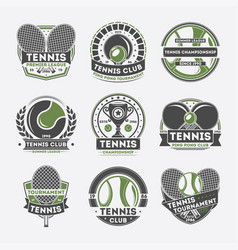 tennis club vintage isolated label set vector image vector image