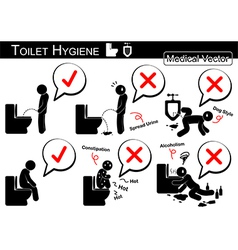 Toilet Hygiene vector image vector image
