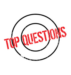 Top questions rubber stamp vector