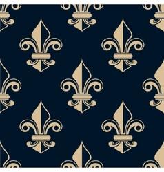 Vintage fleur de lys seamless pattern vector