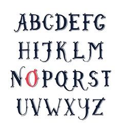 Vintage hand drawn decorative serif alphabet vector