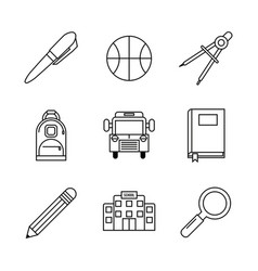 White background with monochrome essential icons vector