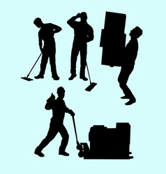 15 worker vector image